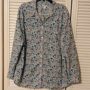 Old Navy Flower Print Button Down